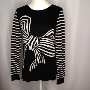 BANANA REPUBLIC Striped Bow Sweater Sz M